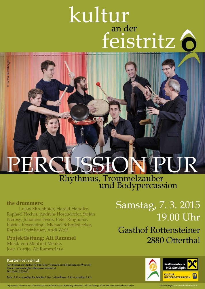 Percussion Pur an der Feistritz 07.03.15